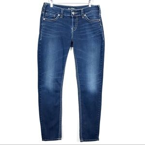 Silver Suki Mid Rise Skinny Stretch Jeans Size 31